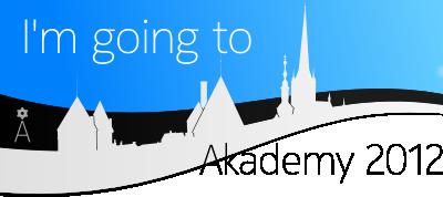 'I'm going to Akademy 2012'