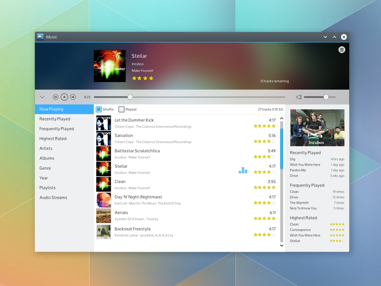 KDE Visual Design Group/Music Player - KDE Community Wiki