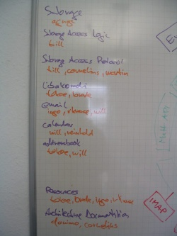 Photo of tasks on whiteboard