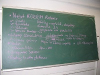 Photo of the agenda of the KDE PIM Meeting at Akademy 2004