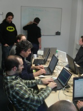 Photo of KDE PIM hackers at work